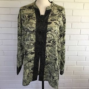 Chico's silk Asian tunic top size 3